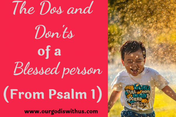 dos and don'ts of a blessed person
