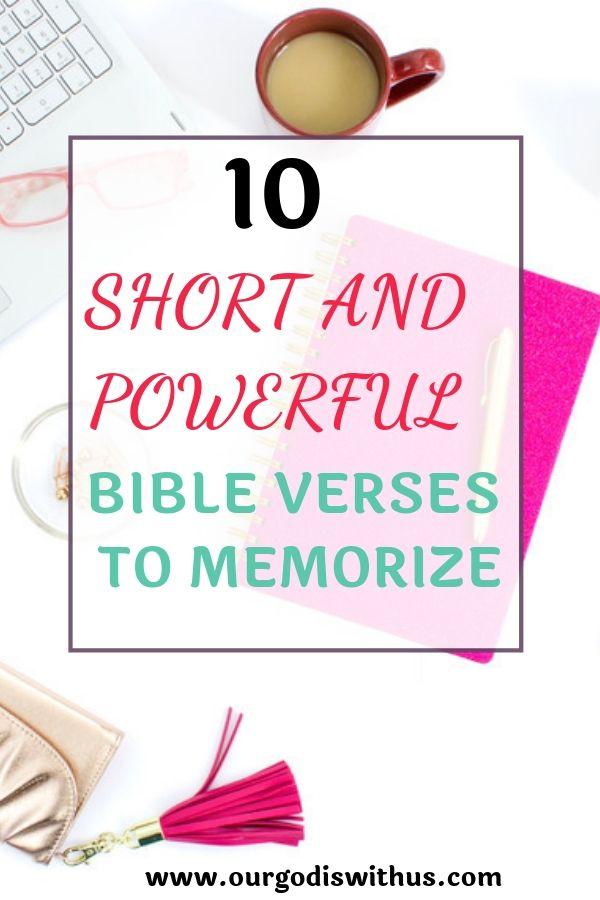 10 short verses to memorise