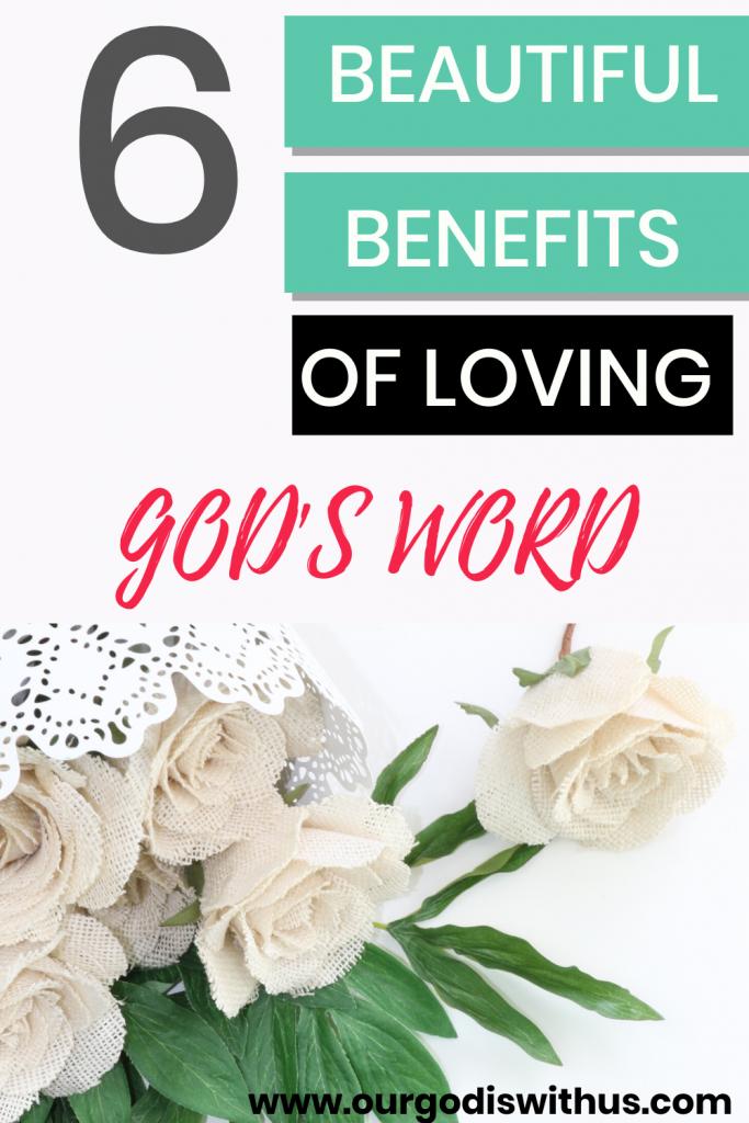 6 Beautiful benefits of loving God's word