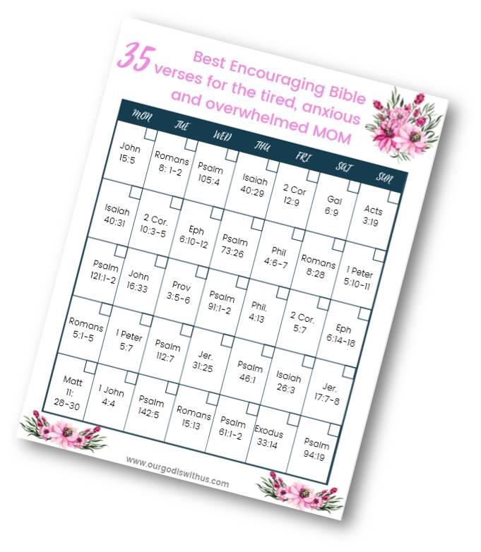 35 Best encouraging verses for moms