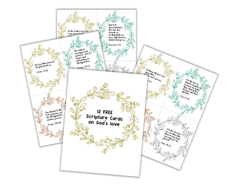 12 God is love Scripture cards