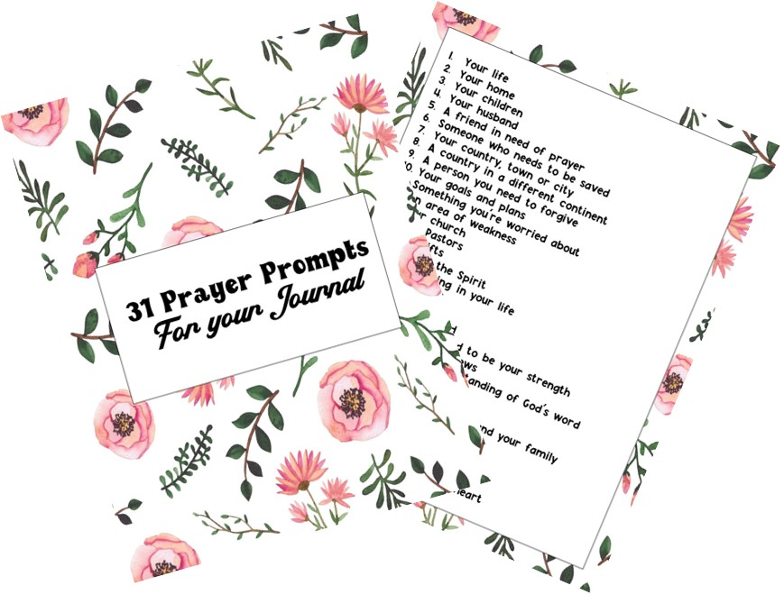 31 Prayer Prompts for your Journal